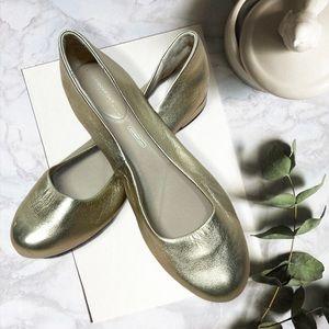 Rockport metallic gold ballet flats sz 9